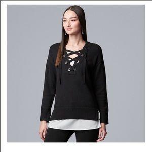 Simply Vera Vera Wang layered sweatshirt